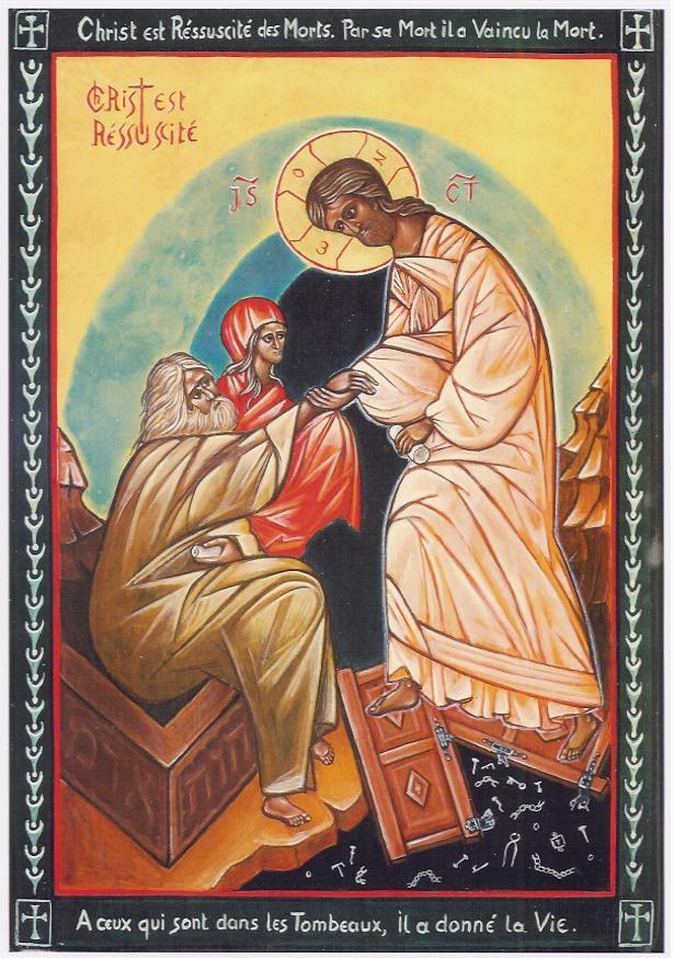 Présentation de l'icône de la descente du Christ aux Enfers (Résurrection) dans images sacrée 35.Resurrection